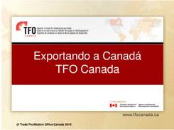 Portada de la presentación Exportando a Canadá