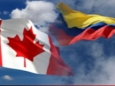 Banderas de Colombia y canada