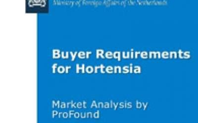 Buyer requirements for Hortensia