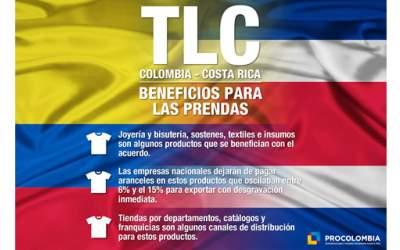 TLC con Costa Rica fija cero arancel para textiles e insumos, brasieres y ropa d