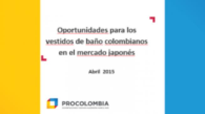 """Seminario Web """"Oportunidades para los Vestidos de baño colombianos en Japón"""""""