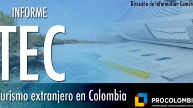 Informe de turismo extranjero en Colombia