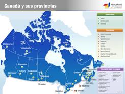 Mapa interactivo de canadá