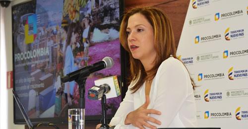 La presidenta de ProColombia, María Claudia Lacouture