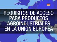 Seminario requisitos de acceso para productos agroindustriales en la Unión Europ